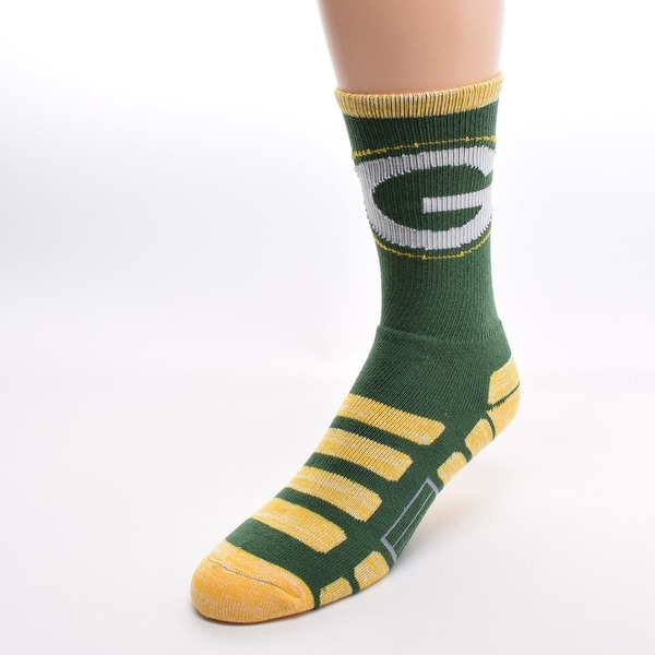 Green Bay Packers For Bare Feet NFL Patches Team Socks