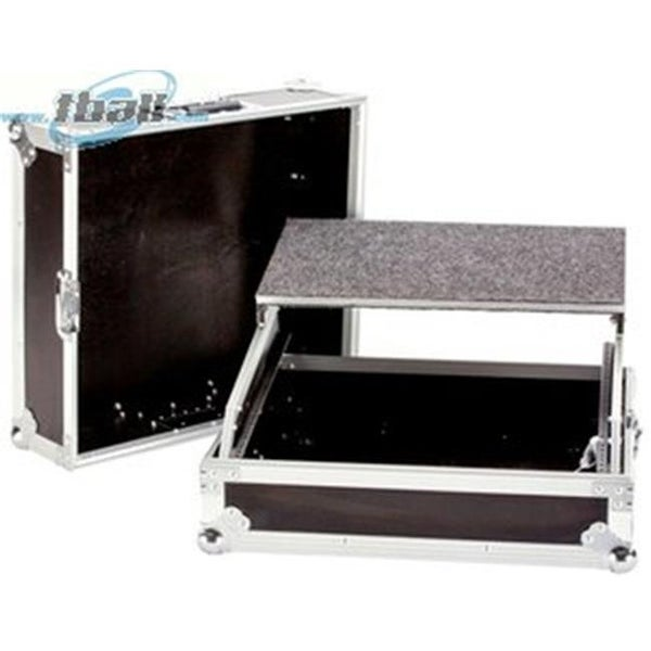 YCS TBH19MIXLT 19 in. DeeJay LED 10 RU DJ Mixer Case with Laptop Shelf