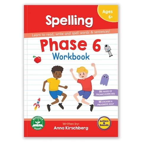 Phase 6 Spelling Educational Learning Workbook - White