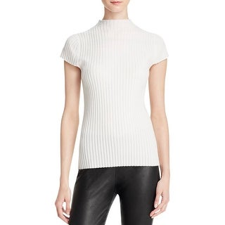 Aqua Cashmere Womens Pullover Sweater Ribbed Cashmere
