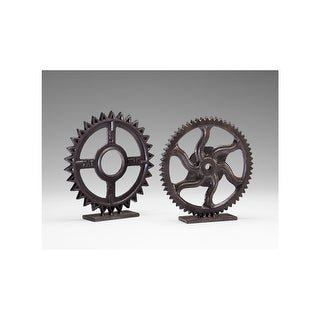 "Cyan Design 4731 11"" Gear Sculpture - Bronze"