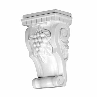 Victorian Wall Fireplace Corbel White Urethane Vintage