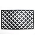 """Decorative Black Rubber Outdoor Rectangular Door Mat 29.5"""" x 17.75"""" - Thumbnail 0"""