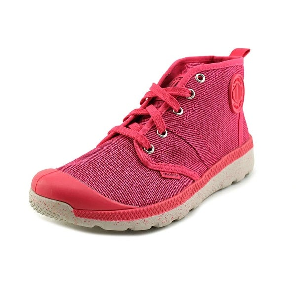Palladium Pallaville Hi TX Women Round Toe Canvas Pink Chukka Boot