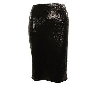 Calvin Klein Women's Basic Sequined Pencil Skirt - 12