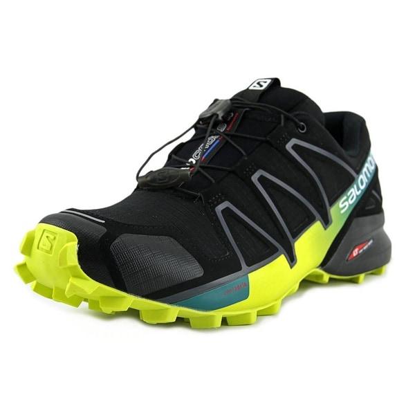 68900e84d9c0 Shop Salomon Speedcross 4 Men Round Toe Canvas Black Trail Running ...