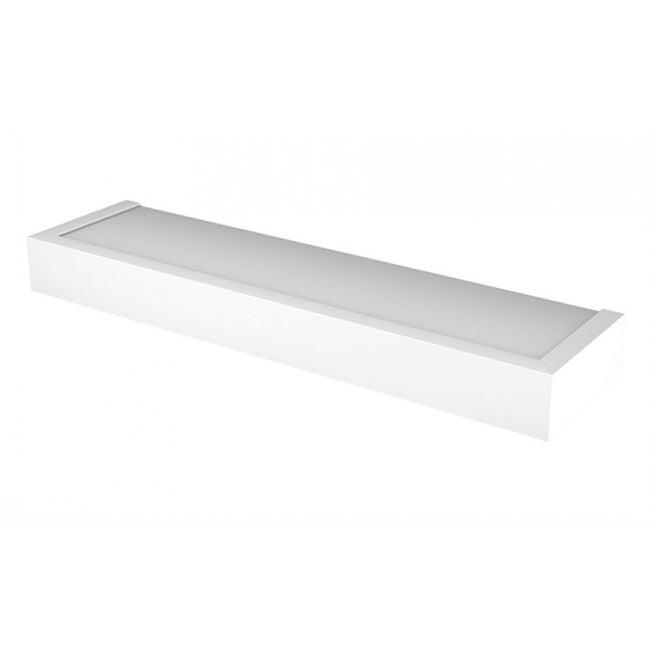 Hillman 515607 High & Mighty Modern Floating Shelf, White, 24