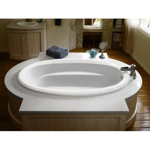 """Signature 72"""" Drop In Soaking Bathtub with Universal Drain - Less Drain Assembly"""