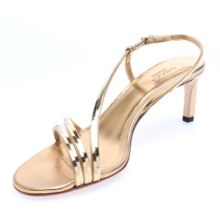 "Gucci Women's Leather ""Othilia"" Gold Chain Mid Heel Sandal"