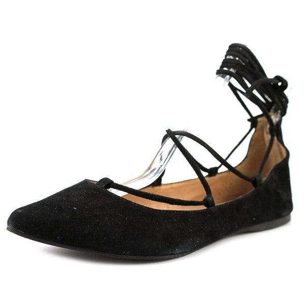 e08d6c89217 Shop Steve Madden Eleanorr Women Pointed Toe Suede Black Flats ...