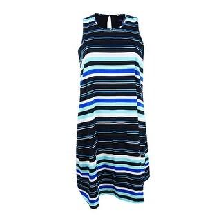Tommy Hilfiger Women's Striped Shift Dress - Black/multi