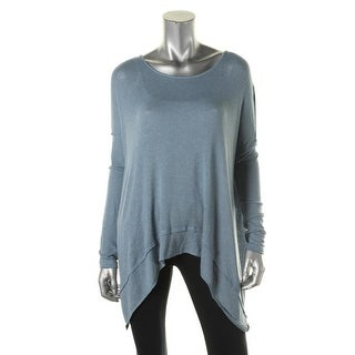 Free People Womens Hacci Oversized Cross Back Pullover Sweater