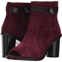 Coach Womens Moto Open Toe Ankle Fashion Boots