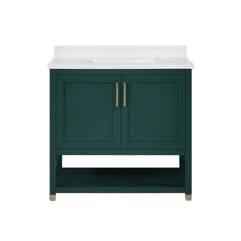 OVE Decors Ralph II 36 in.Single Sink Bathroom Vanity in Emerald Green