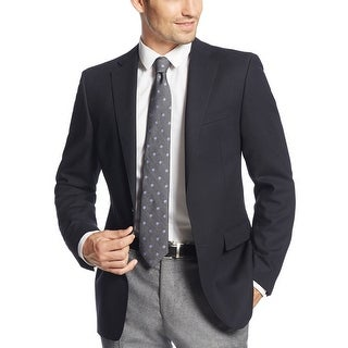 Calvin Klein Slim Fit Navy Blue Textured 2-Button Sportcoat Blazer