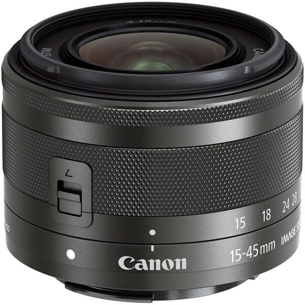 Canon EF-M 15-45mm f/3.5-6.3 IS STM Lens (Graphite) (International Model)