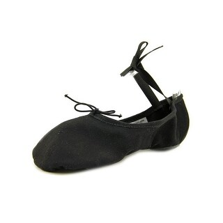 Bloch Pump Canvas Split Sole Women D Round Toe Canvas Black Dance