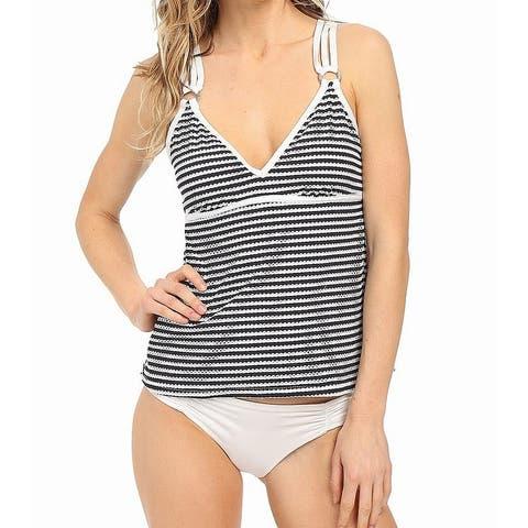 Nautica Blue Womens Size 12 Eyelet Lace Swimwear Tankini Top