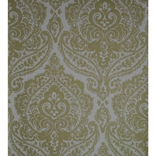 Link to Jamilah Gold Damask Wallpaper - 20.5in x 396in x 0.025in Similar Items in Wall Coverings
