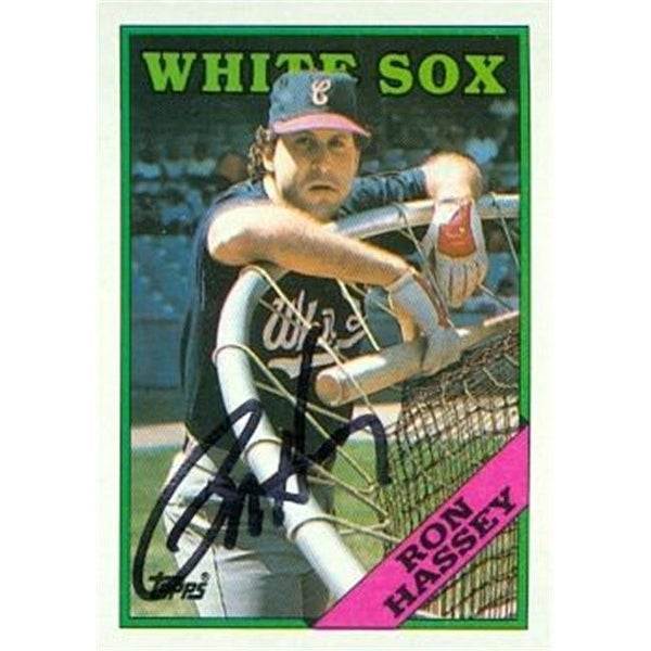 Ron Hassey Autographed Baseball Card Chicago White Sox 1988 Topps