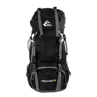 FreeKnight Authorized Outdoor Camping Bag Trekking Hiking Backpack Black 60L