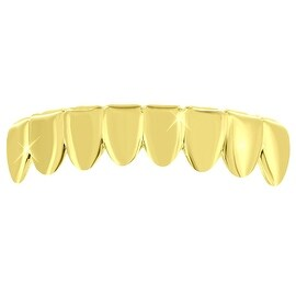 Rapper Wear Teeth Grillz Bottom Mouth Grill Yellow Gold Tone
