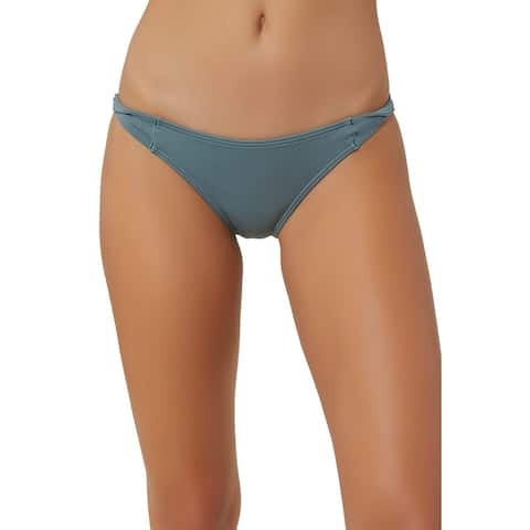 O'Neill Women's Swimwear Gray Blue Size Large L Bikini Bottom Side-Twist