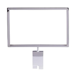 Econoco 7 in. H x 11 in. W Metal Sign Holder for Gridwall, Chrome