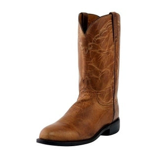 Lucchese Western Boots Mens Mad Dog Goat Roper Round Toe M1017.C2