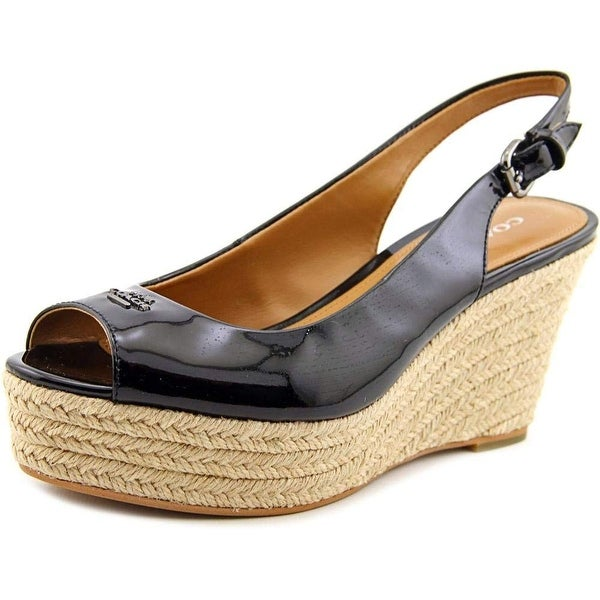 Coach Womens Ferry Snake Peep Toe Special Occasion Platform Sandals