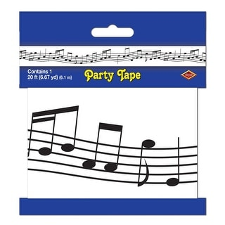 Club Pack of 12 Musical Notes Party Tape 3'' x 20'