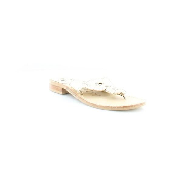 Jack Rogers Hamptons Women's Sandals Silver - 5