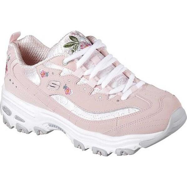 Shop Skechers Women's D'Lites Bright Blossoms Sneaker Light