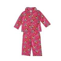 384673481231 Shop Elowel Baby Girls Yellow Pink Flower Print Footed Fleece ...
