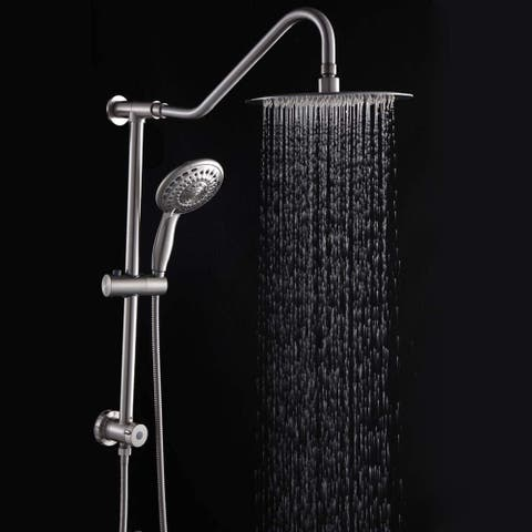 Stainless Steel Brushed Nickel Shower Head Dual Shower Combo
