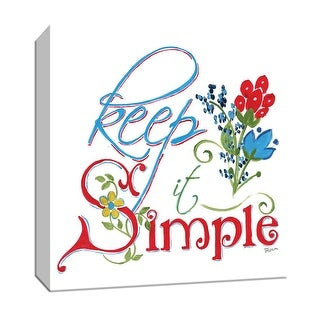 "PTM Images 9-147138  PTM Canvas Collection 12"" x 12"" - ""Simple"" Giclee Sayings & Quotes Art Print on Canvas"