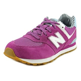New Balance KL574 Round Toe Suede Sneakers