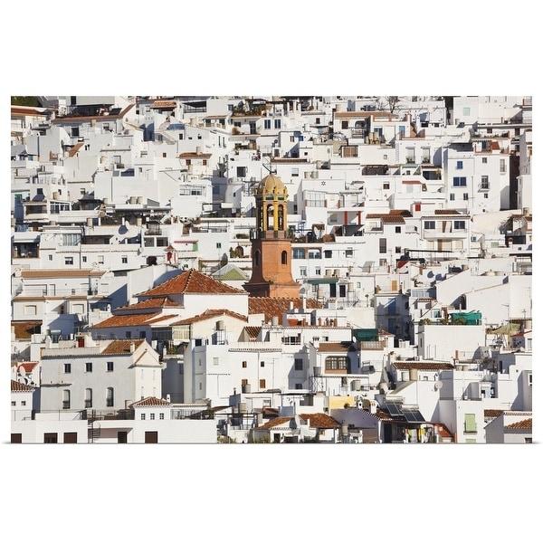 """White town of Competa, La Axarquia, Malaga Province, Andalusia, Spain"" Poster Print"