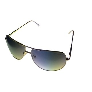 Kenneth Cole Reaction Mens Sunglass Silver Metal Aviator, Gradient KC1177 24B - Medium