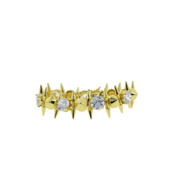Noir Womens Statement Bracelet Gold-Plated Cubic Zirconia - Gold