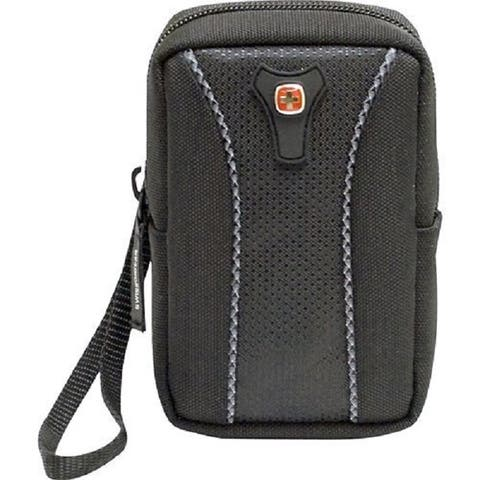 """Swiss Gear - Jasper Medium Camera Case - Black - 4.25"""" x 2.5"""" x 1"""""""
