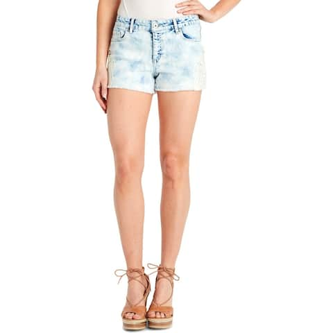 Jessica Simpson Womens Cherish Cutoff Shorts Denim Applique