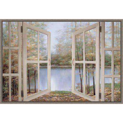 Autumn Woods by Diane Romanello Framed Canvas Art