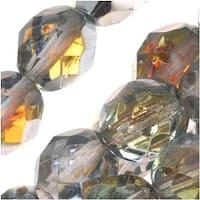 Czech Fire Polished Glass Beads 8mm Round Crystal Marea (25)