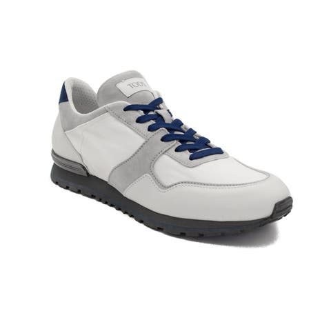 Tod's Men's Leather Sneaker Shoes White/Grey
