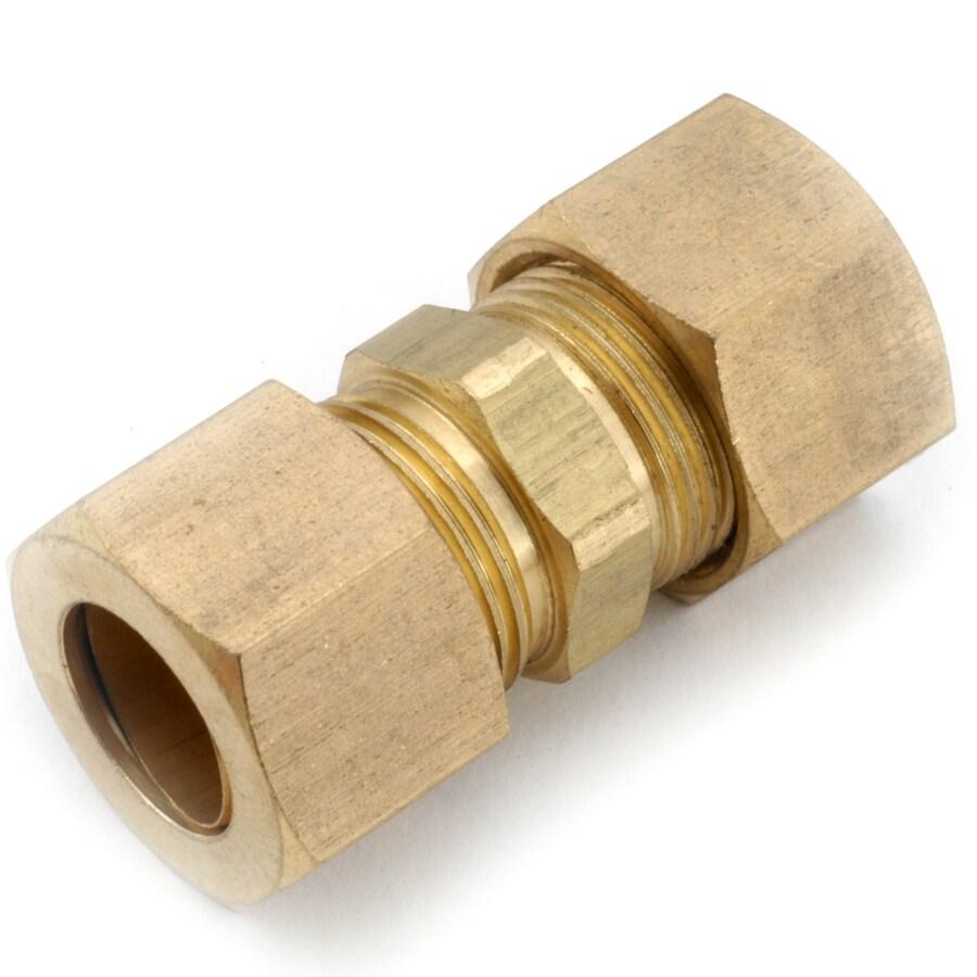 Anderson Metals 710062-04 Lead Free Compression Union, 1/4 x 1/4