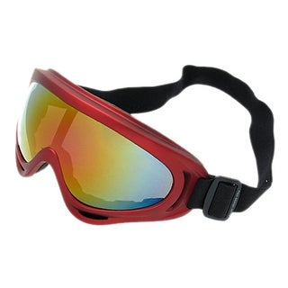 Adjustable Band Red Frame Snowboard Sports Ski Goggles