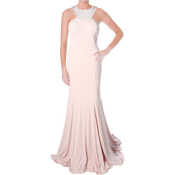 Jovani Embellished Sleeveless Formal Dress