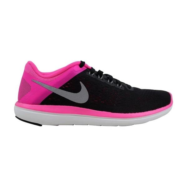 7d1faa20241 Shop Nike Flex 2016 RN Black Metallic Cool Grey-Pink Blast-White ...