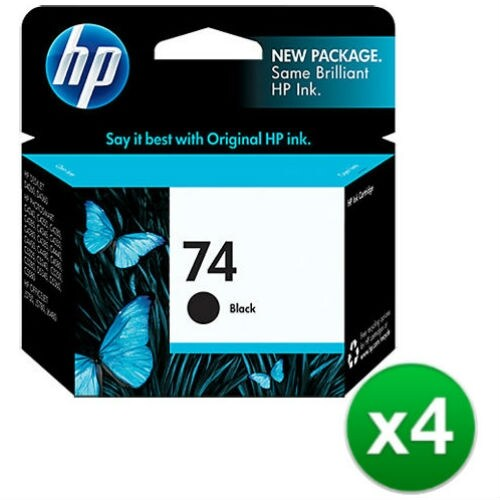 HP 74 Black Original Ink Cartridge (CB335WN)(4-Pack)